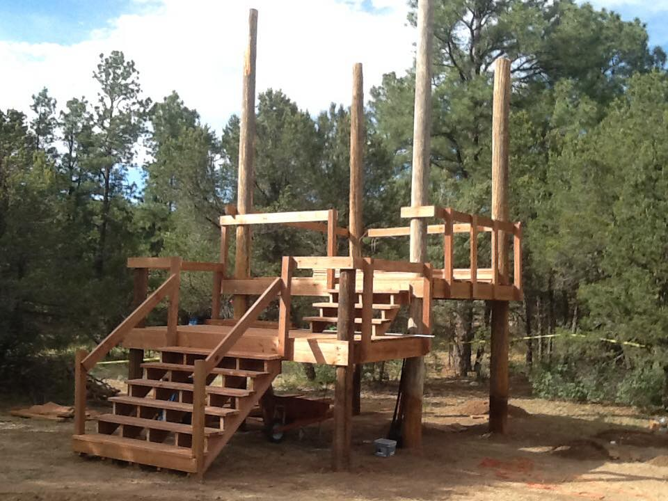Add a second deck and stairs